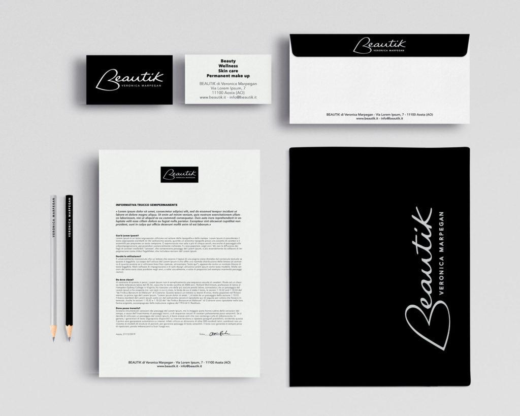 Beautik Aosta Logo e immagine coordinata