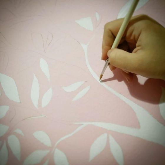 cameretta dipinta a mano